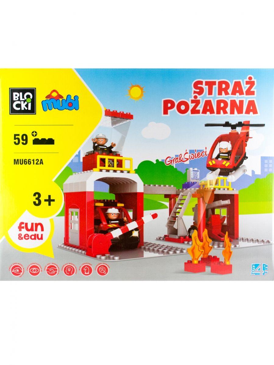 Klocki MUBI - Straż Pożarna - zabawka 59 elementów
